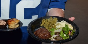 Ruths Chris catering at the Bullseye Colts VIP Tailgate.
