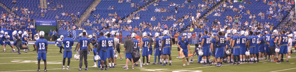 Colts Players during Mini Camp
