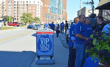 Outside of the VIP Colts Tailgate